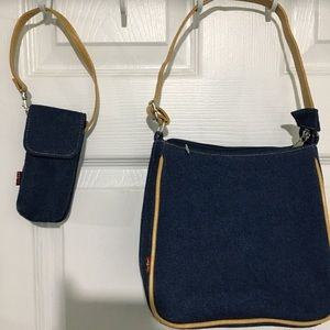 New LEVI'S DENIM JEAN PURSE & phone case!